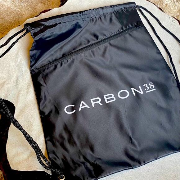 NEW CARBON 38 Black Nylon Logo Backpack